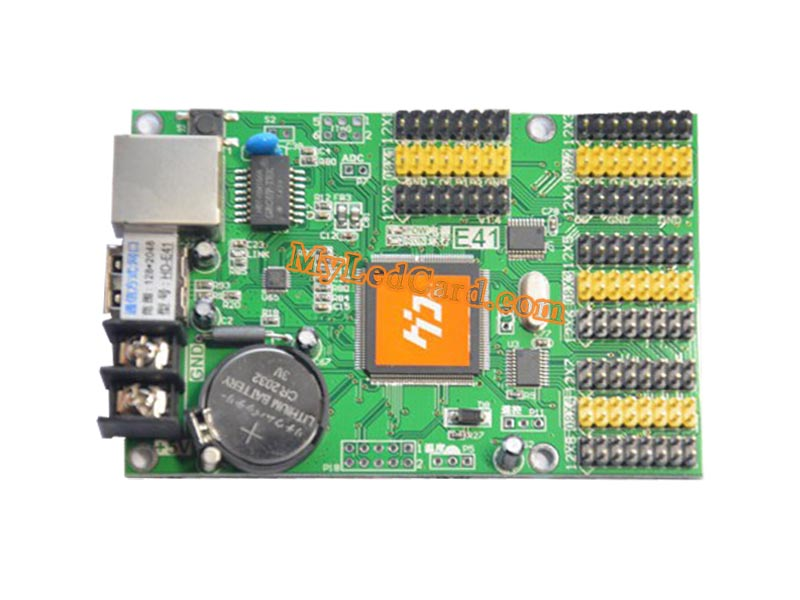 HD-E41 HD-E63 LED Sign Controller with Ethernet and USB Ports
