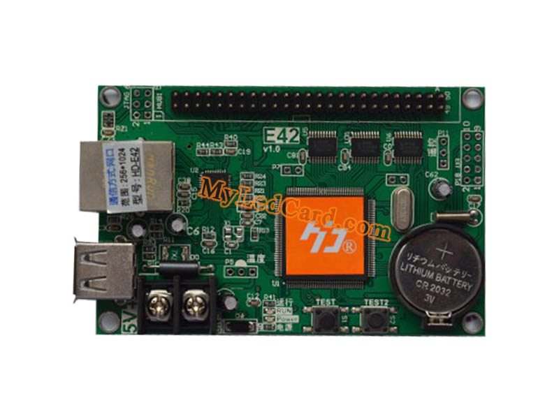 HD-E42 LED Screen Control Card with U-Disk and Ethernet Ports