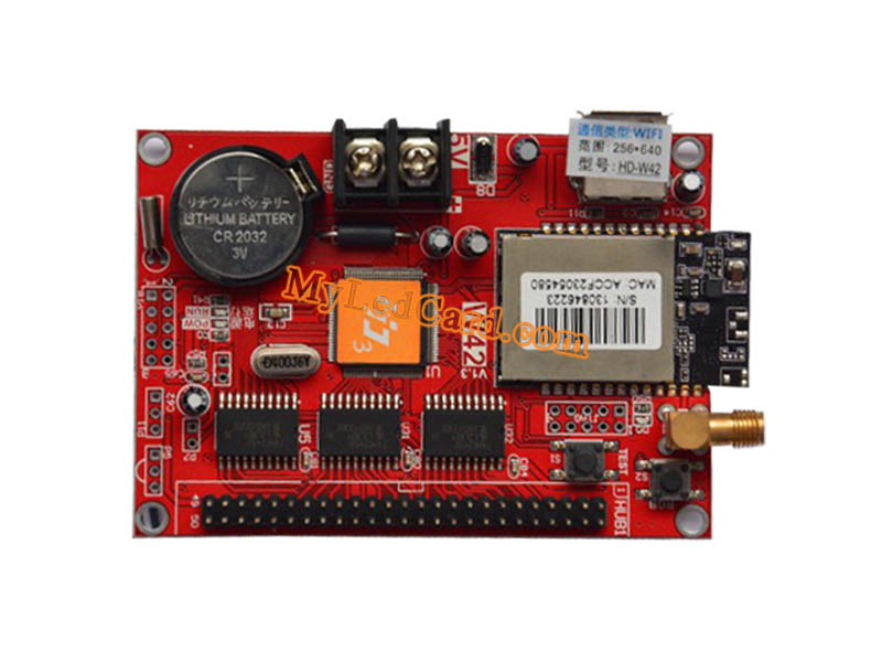 HD-W42 U-Disk and WIFI Communication LED Control Card