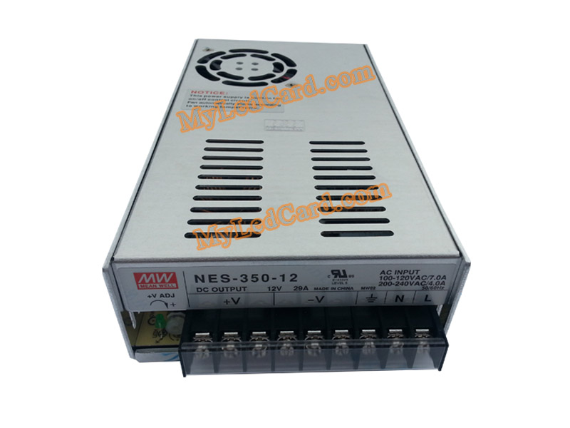 MeanWell 12V/350W 29A Switching Power Supply (NES-350-12)