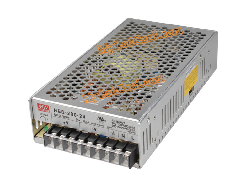MeanWell 8.8A 24V 200W Switching Power Supply (NES-200-24)