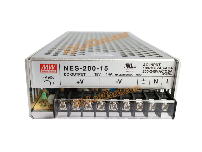 MeanWell NES-200-15 15V 14A 200W Switching Power Supply