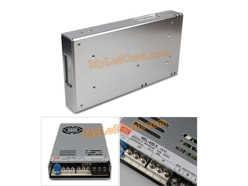 Meanwell NEL-400-5 LED Switching Power Supply 200-240VAC
