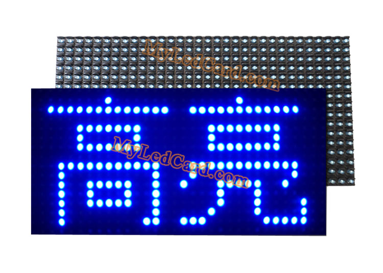 P10 Outdoor Waterproof 1B Blue Color LED Signage Module 320*160mm