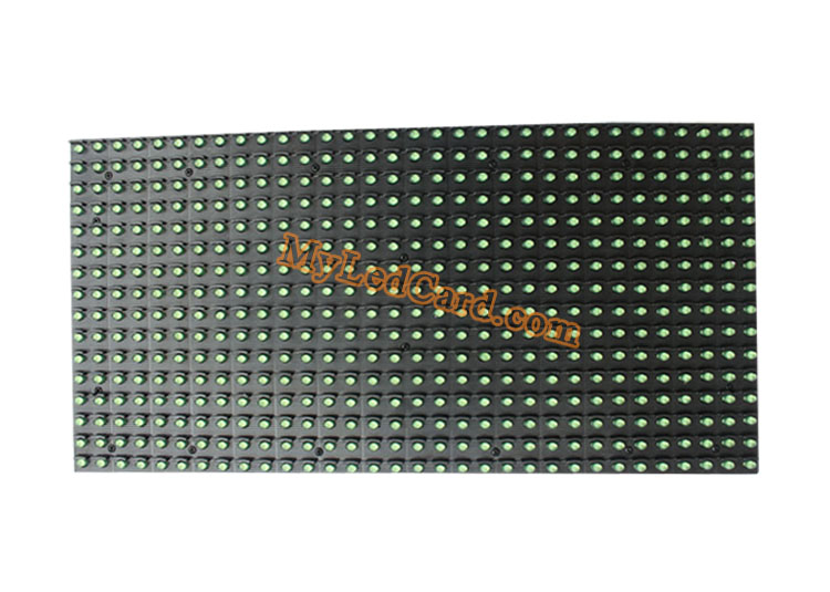 P10 Semi Outdoor High Brightness 1G Single Green Color LED Display Module 320*160mm