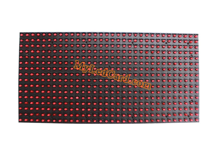 P10 Semi Outdoor High Brightness 1R Single RED Color Message LED Board Module 320*160mm