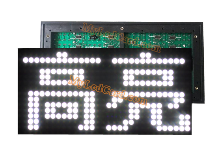 P10mm Outdoor 1W White Color LED Display Module Board 320*160mm