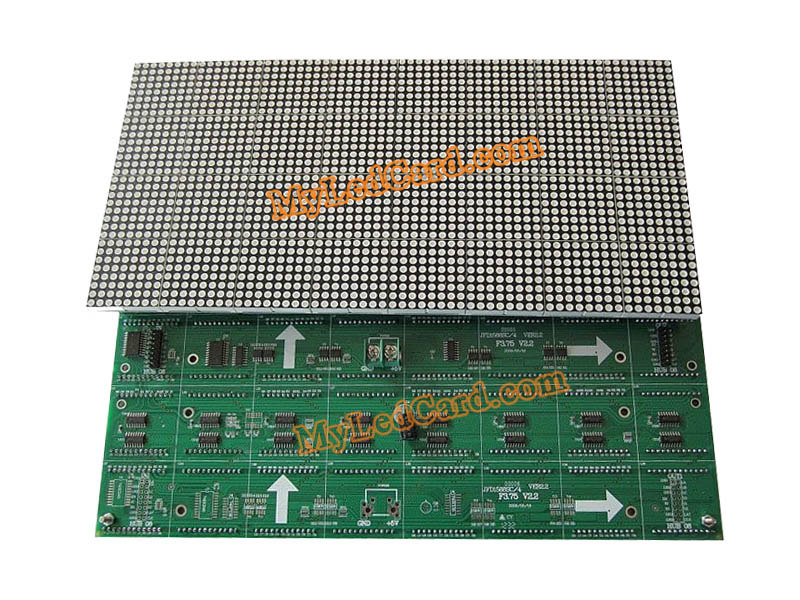P4.75 Indoor Dual Color 1R1G LED Dot Matrix Message LED Module 304*152mm