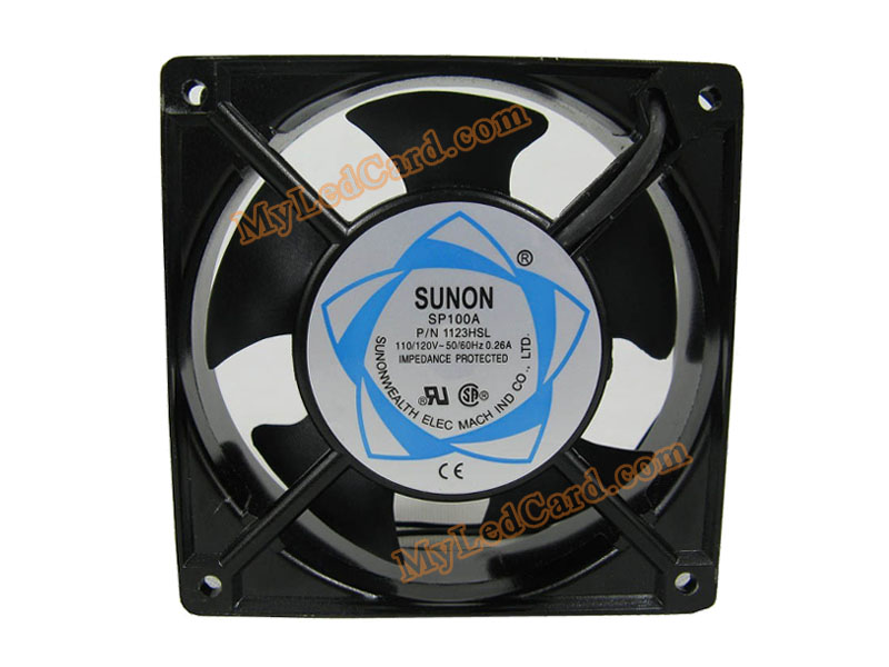 Sunon 110V 1123HSL LED Display Cabinet Cooling Fan /Ventilator