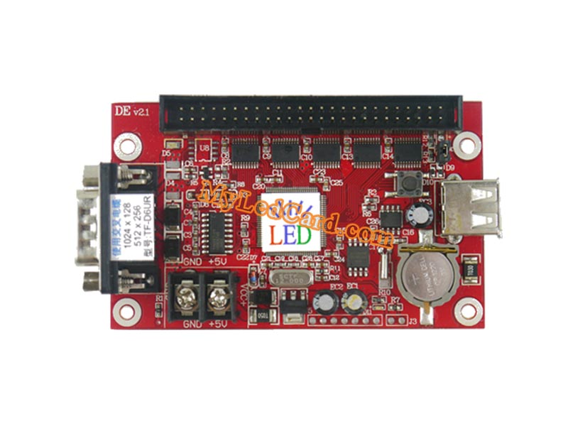 TF-D6UR TF-D3U LED Sign Control Card with USB/Serial Ports