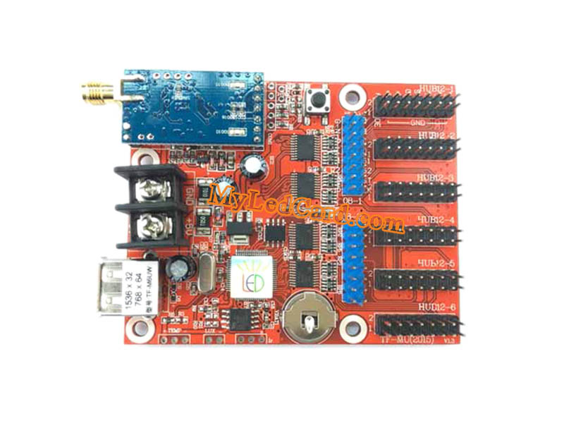 TF-M6UW WIFI+USB Communication LED Sign Controller Card
